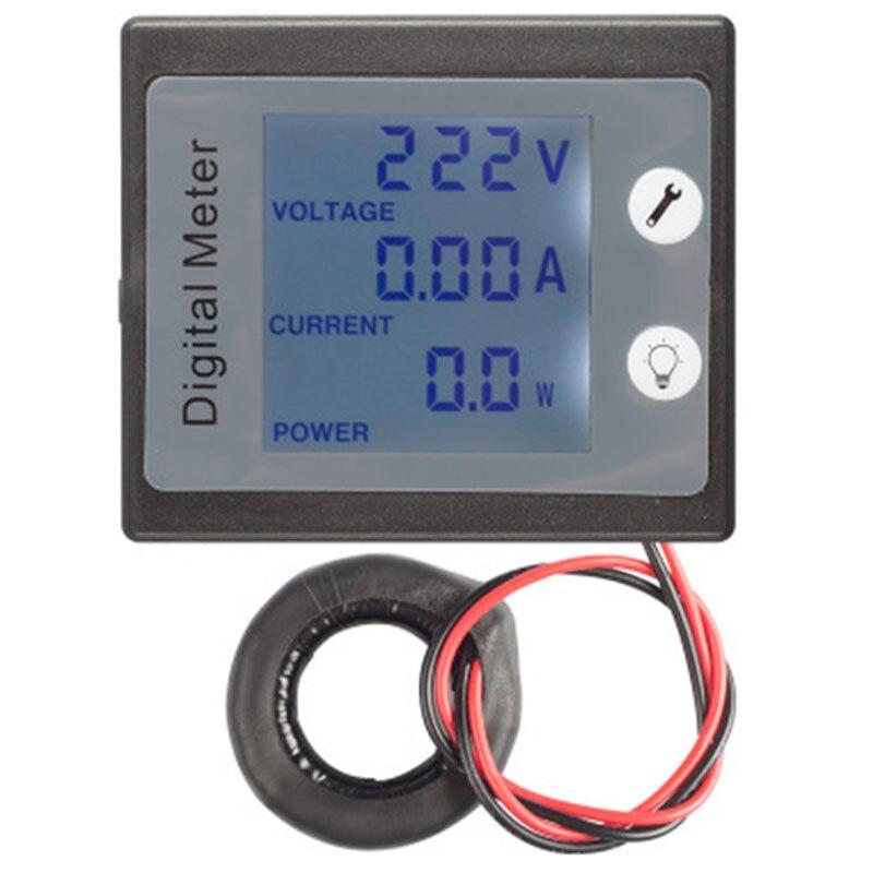 Voltímetro de Panel Digital monofásico de CA, amperímetro de 220V 100A, medidor de corriente de energía eléctrica Kwh PZEM-0 11 con bobina CT