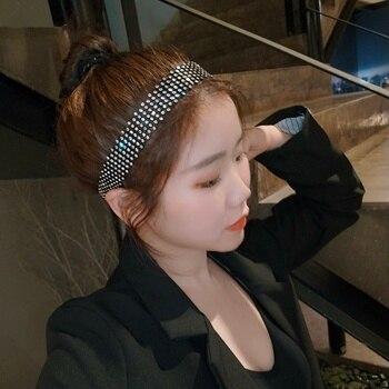 Japan and South Korea Shiny Fashionable Hair Diamond Set Hair Bands Ins Internet Celebrity Versitile Fashion Full of Crystals