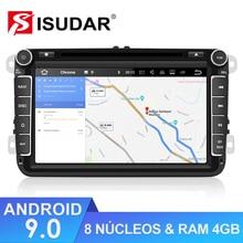 Isudar-lecteur multimédia de voiture GPS   1280x720, Android 9, pour Volkswagen/Passat/POLO/GOLF/CC/Skoda/Octavia/Leon, Radio DVD Auto, GPS