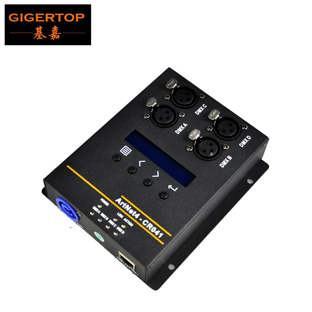 Gigertop 4 طريقة الناتج Artnet صندوق التحكم السلطة مع مقبس الإنترنت RJ45 DMX القياسية توصيل Art-Net-DMX512 محول الشبكة