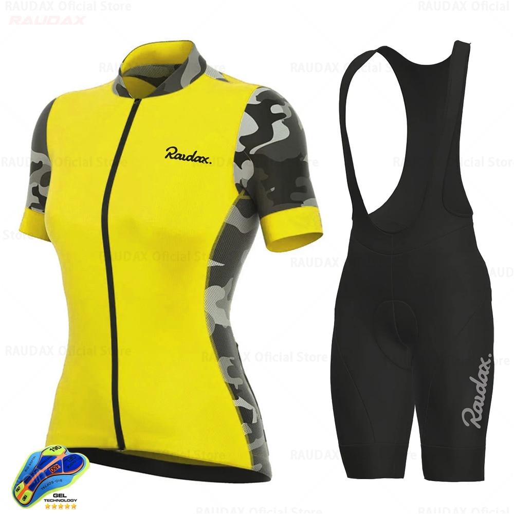 Raudax-Conjunto de ropa de Ciclismo para mujer, Maillot de camuflaje Anti-UV para...
