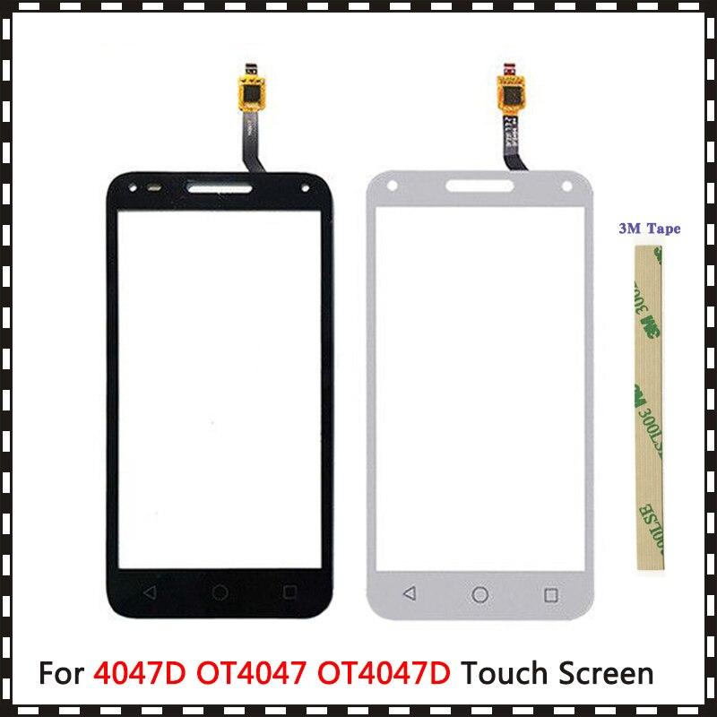 "5.0"" For Alcatel One Touch U5 3G 4047D 4047G 4047 OT4047 OT4047D Touch Screen Digitizer Sensor Outer Glass Lens Panel"