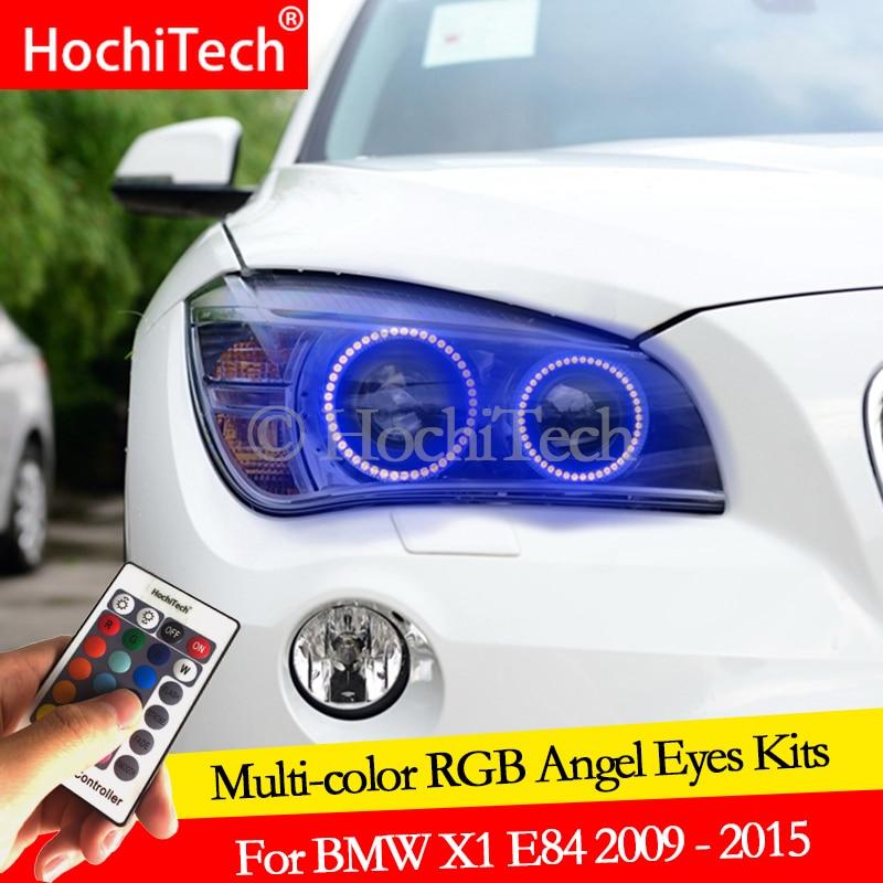 For BMW X1 E84  Xenon headlightdaytime running light DRL Angel Eyes LED RGB Multi-color Headlight Halo Ring kit