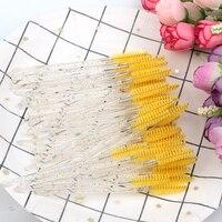 Хорошее качество одноразовые 5-50 шт в наборе, с украшением в виде кристаллов для наращивания ресниц макияж кисти эффектное бриллиантовое ру...