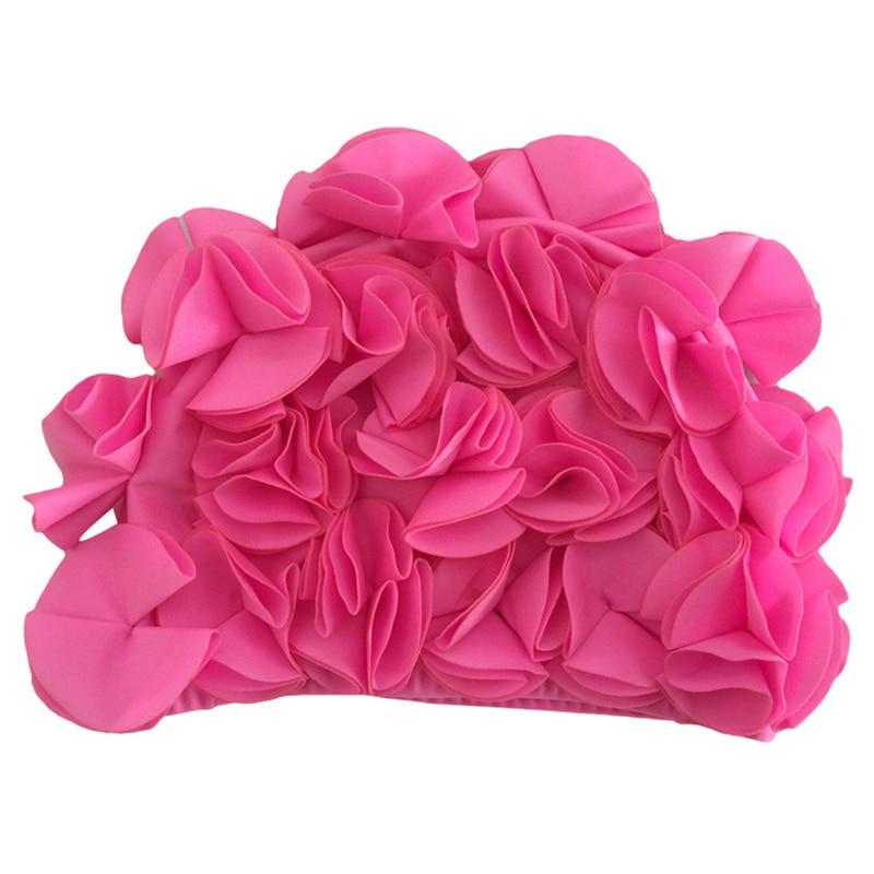 Nuevo 2019 de flores las mujeres chicas nadando baño tapa colorido deportes piscina hermoso sombrero tamaño libre elástico gorras a mano exquisito
