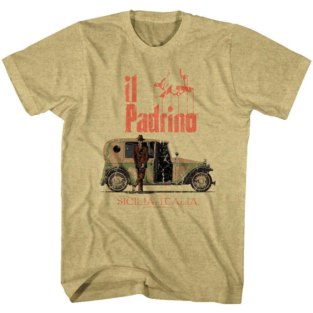 Padrino Vintage coche Mens T camisa Sicilia de Jefe de la Mafia en Sicilia