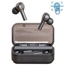 سماعات لاسلكية حقيقية بلوتوث 5.0 سماعة لاسلكية مع حر اليدين HD ميكروفون إلغاء الضوضاء سماعات الأذن إضاءة مقاومة للماء