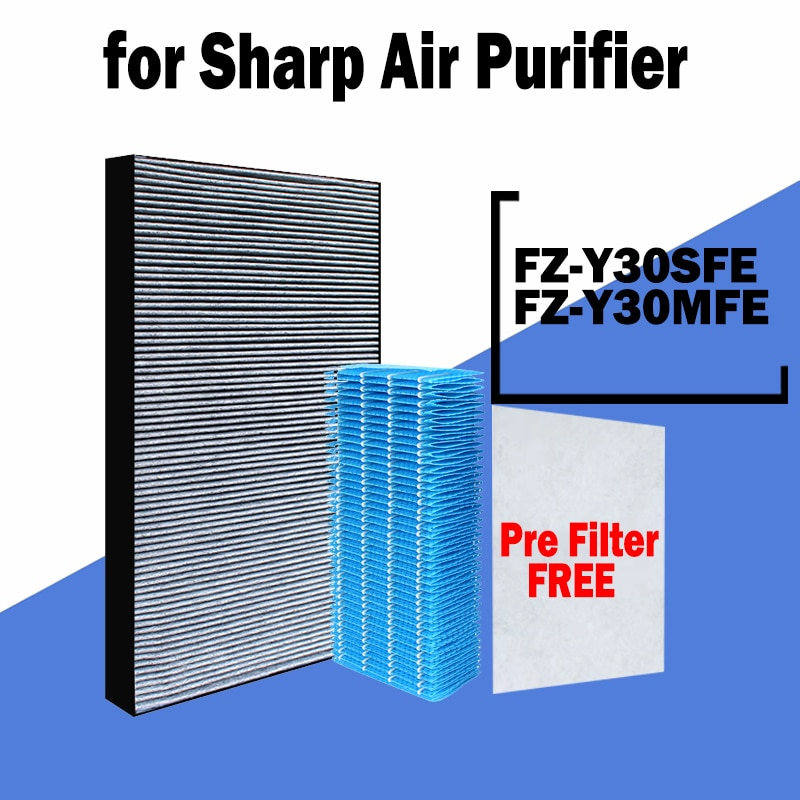 sharp air purifier filter kc a50jw kc a51r b hepa filter fz a51hfr actived carbon filter fz a51dfr filter for humidifier parts FZ-Y30MFE FZ-Y30SFE H13 Hepa Filter Replacement for SHARP Air Purifier KC-930E FU-Z31E FU-Y30E FU-Z31Y KC-830E FU-Y30EUW