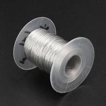 Câble de levage de pêche molle de câble métallique dacier inoxydable de 100m 304 1*7 corde à linge avec 30 virole en aluminium U50A