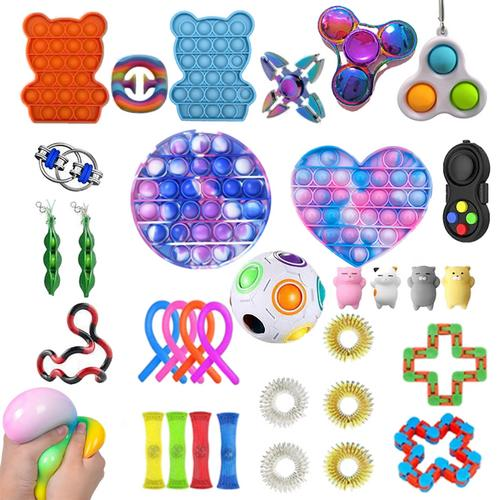 popit  Fidget Sensory Toy Set Stress Relief Toys Autism Anxiety Relief Stress Pop Bubble Fidget Sensory Toy For Kids Adults enlarge