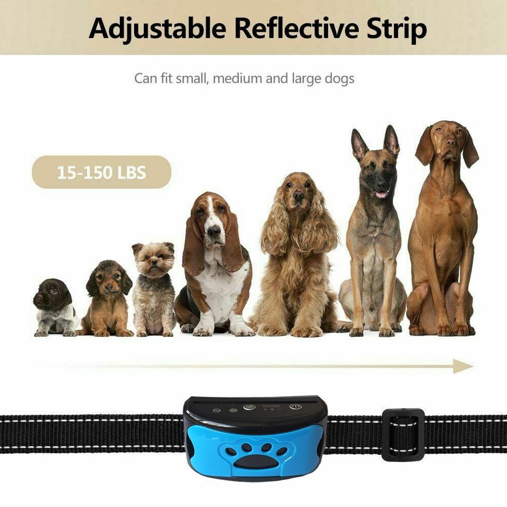 Auto Sensing 7 Level Multifunctional Dog Training Waterproof No Shock Anti Bark Collar Pet Supplies Adjustable Sound Vibration