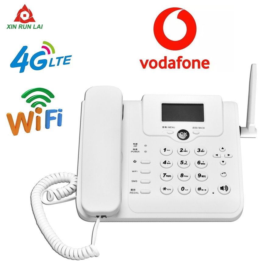 Fixed Desktop Wireless Cordless Telephone 3G 4G GSM Desk Phone SIM Card Mobile Hotspot SMS Function Desktop Telephone Machine
