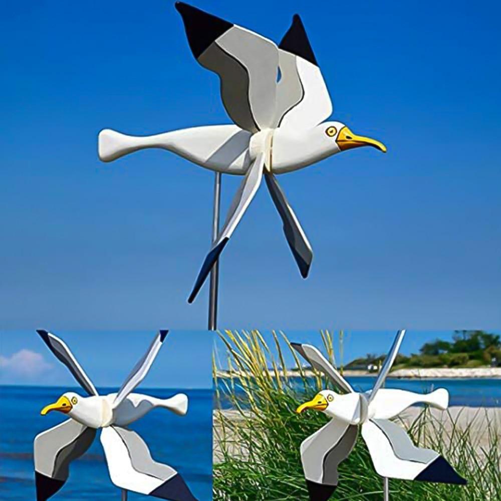 الديكور Seagul حديقة الديكور هوائي أعلى لعبة الطائر المحلق سلسلة طاحونة طاحونة النورس