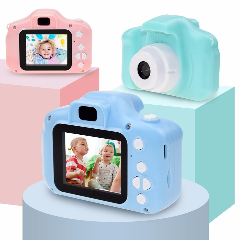 Mini Cartoon Camera Educational Toys For Children 2 Inch-HD Screen Digital Camera Video Recorder Camcorder Toys For Kids Girls