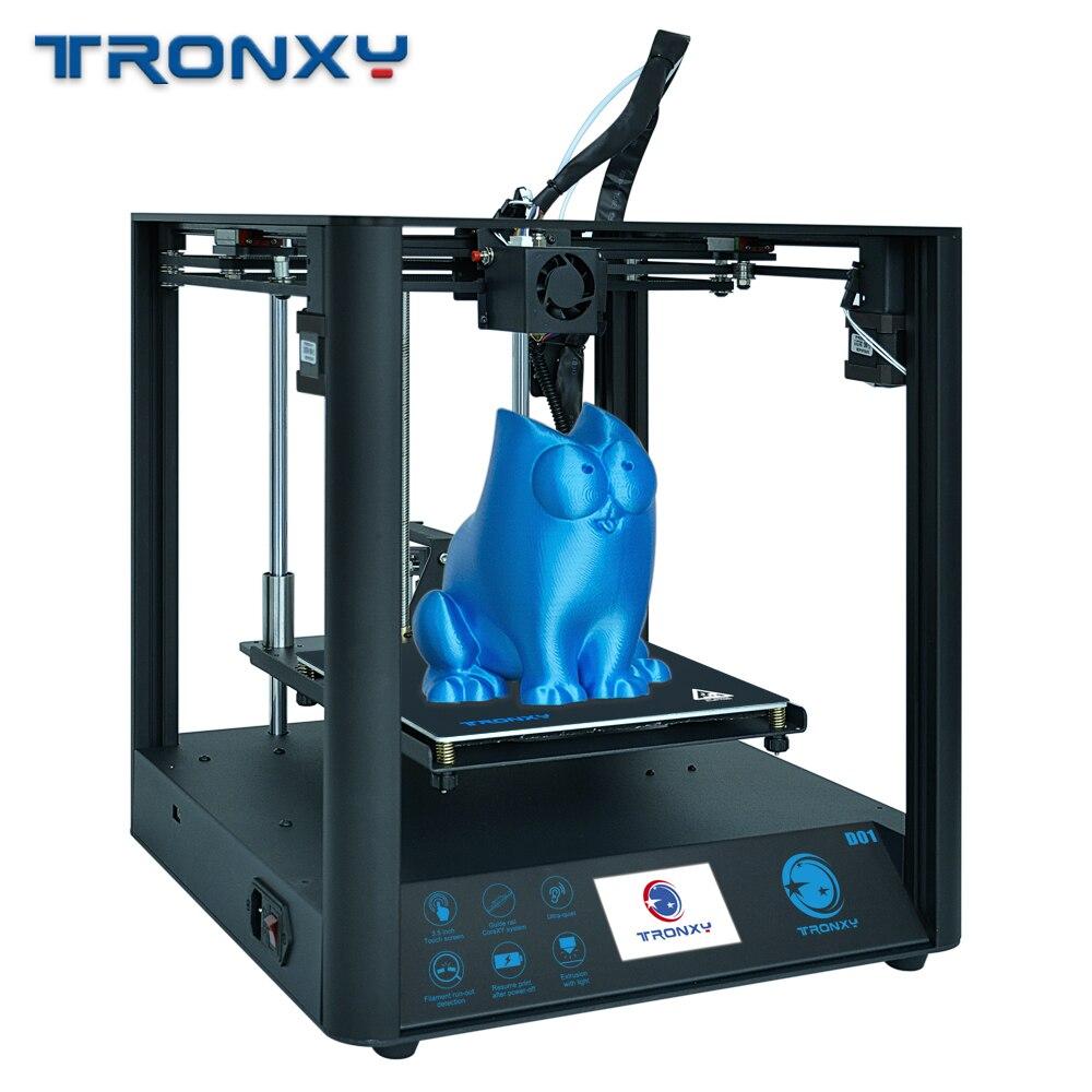 "TRONXY D01 3D Printer CoreXY TITAN Extruder Core XY Industrial Linear Guide Rail 3D Machine 3.5"" Touch Screen print Facesheild"