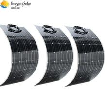 Semi flexible 100 Watt Solar Panel 12V High Efficiency Class-A monocsytalline Solar Cell 100W; Monocrystalline Solar Panels