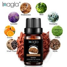 Inagla Sandalwood Essential Oil Pure Natural 10ML Pure Essential Oils Aromatherapy Diffusers Oil Hea