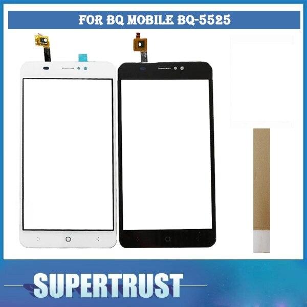 """5.5 """"para bq 5525 móvel BQ-5525 practic bq5525 sensor da tela de toque digitador vidro peça substituição cor branca preta fita"""