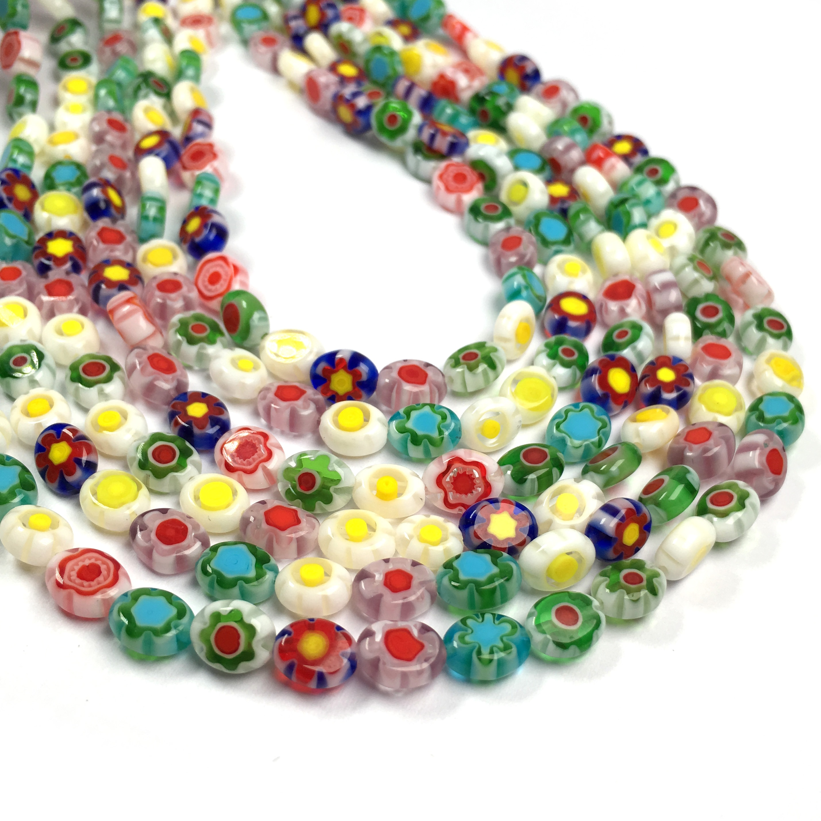 Lampwork Glass Beads Oval Loose Spacer Beads For Jewelry Making DIY Necklace Bracelet Accessories Size 6x8mm  - buy with discount