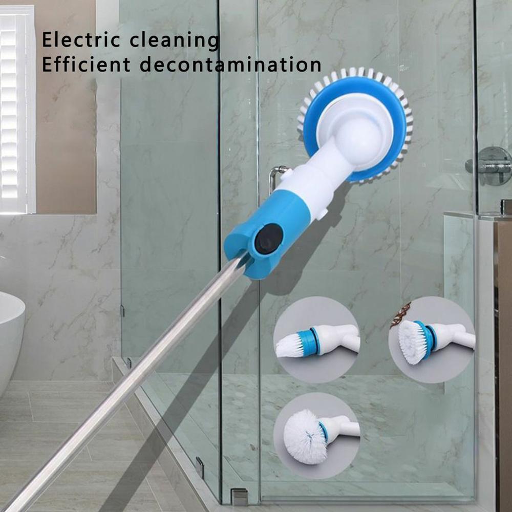 Cepillo de limpieza Turbo giratorio eléctrico, limpiador de azulejo de baño inalámbrico, cepillo limpiador de ventana, utensilios de cocina