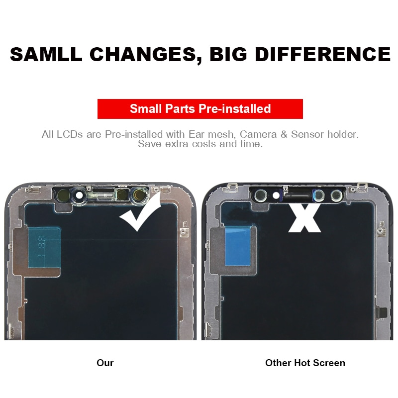 TFT For iPhone 11 Pro Max Display Digitizer Assembly Replacement For iPhone X XR XS MAX 11 LCD True Tone No Dead Pixel enlarge