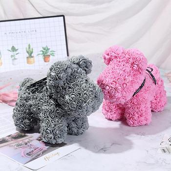 DishyKooker Искусственные цветы розы собака форма кукла игрушка дома Свадьба Праздник День Рождения Вечеринка сделай сам украшение