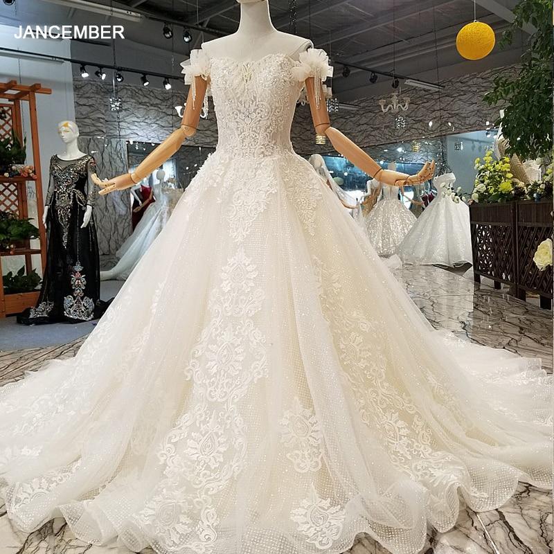 Vestido de boda popular LS841441, con cuello de barco especial, sin hombros,...