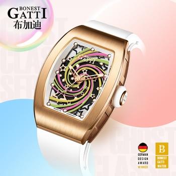 Gold Watch Women's Watches Luxury Brand Women Mechanical Watch Sapphire Rubber Glass Ladies Automatic Waterproof Girl Wristwatch