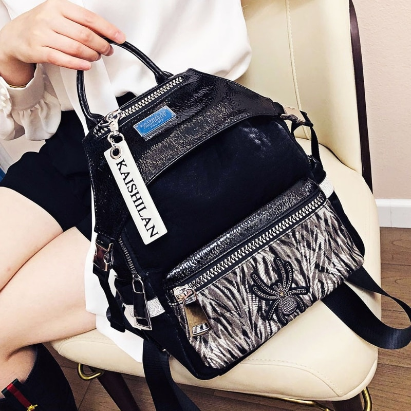 Fancy Animal Prints Women's Backpack School Mochila Para Hombre Luxury Designer Shoulder Bags Black Sac A Dos