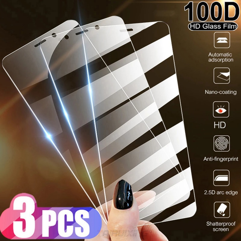 Película de cristal HD templado para teléfono móvil, protectores de pantalla para...