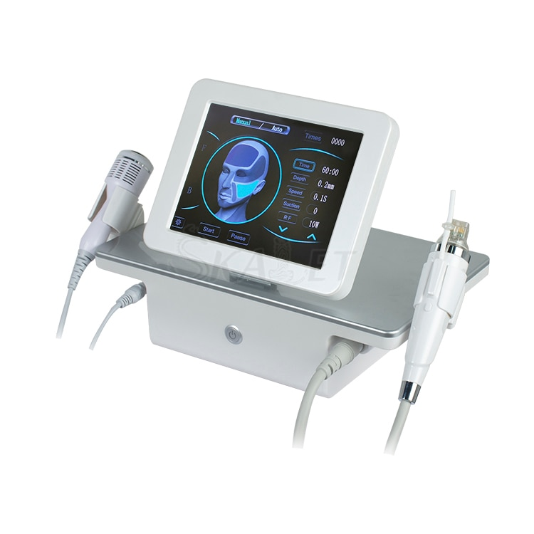 إبر دقيقة غير جراحية 2 في 1 RF ، تقليل المسام ، إزالة علامات التمدد الأنثوية بمطرقة باردة ، آلة العناية بالبشرة