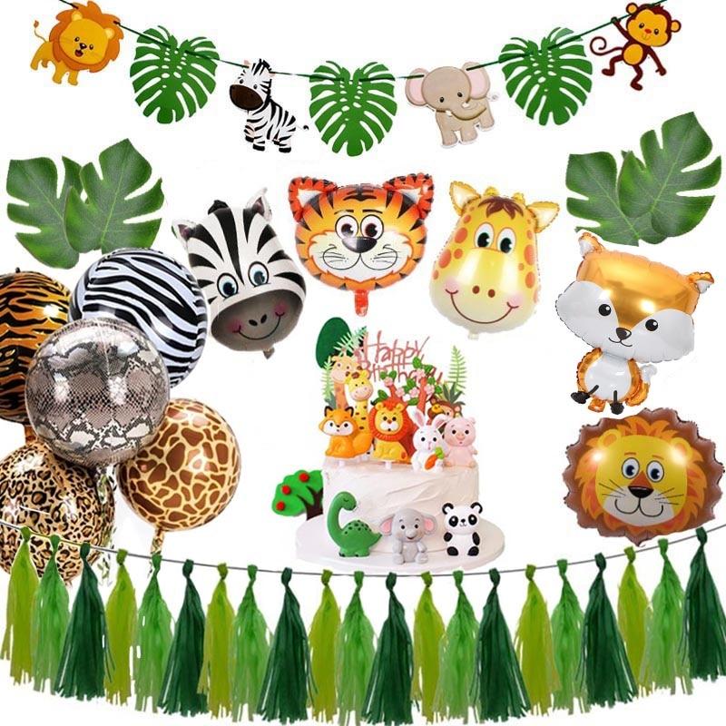 Animal Ballons Jungle Safari Party Theme Birthday Decor Kids Baby Shower Supplies