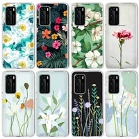 fashion leaves case for huawei p40 p30 p20 mate 30 20 pro lite case for honor 30 30s 20 10 lite pro p smart 2020 2021 silicone