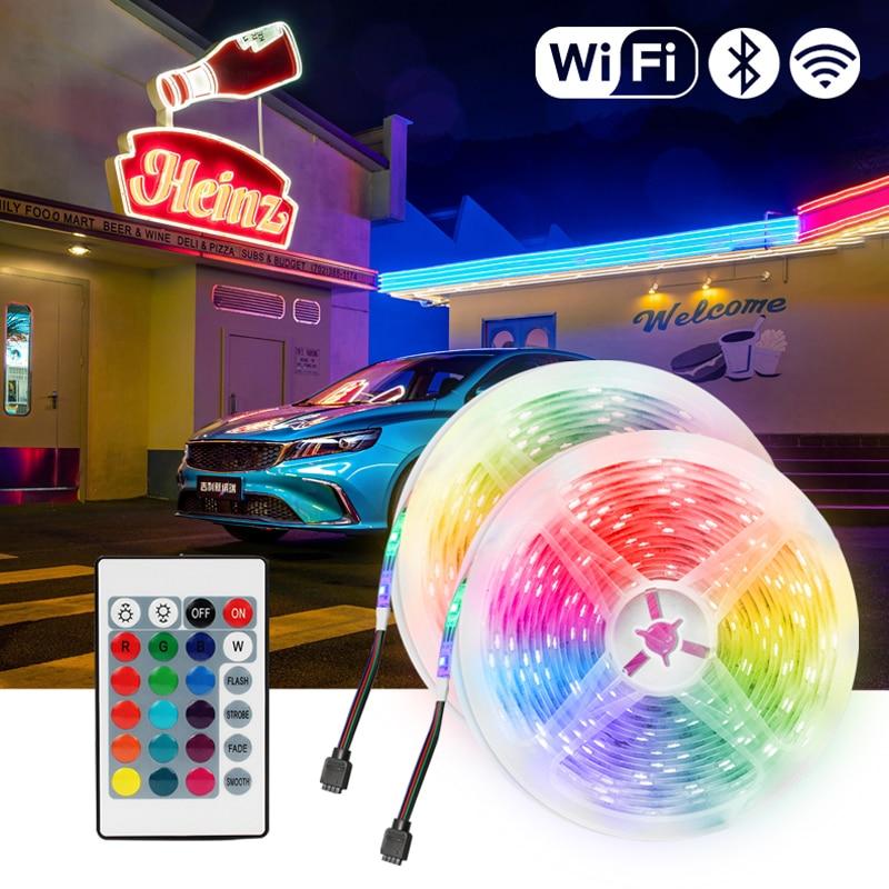 striscia-led-rgb-12v-luci-bluetooth-wifi-luces-led-dc-5050-smd2835-flessibile-impermeabile-diodo-a-nastro-luce-telecomando-per-camera