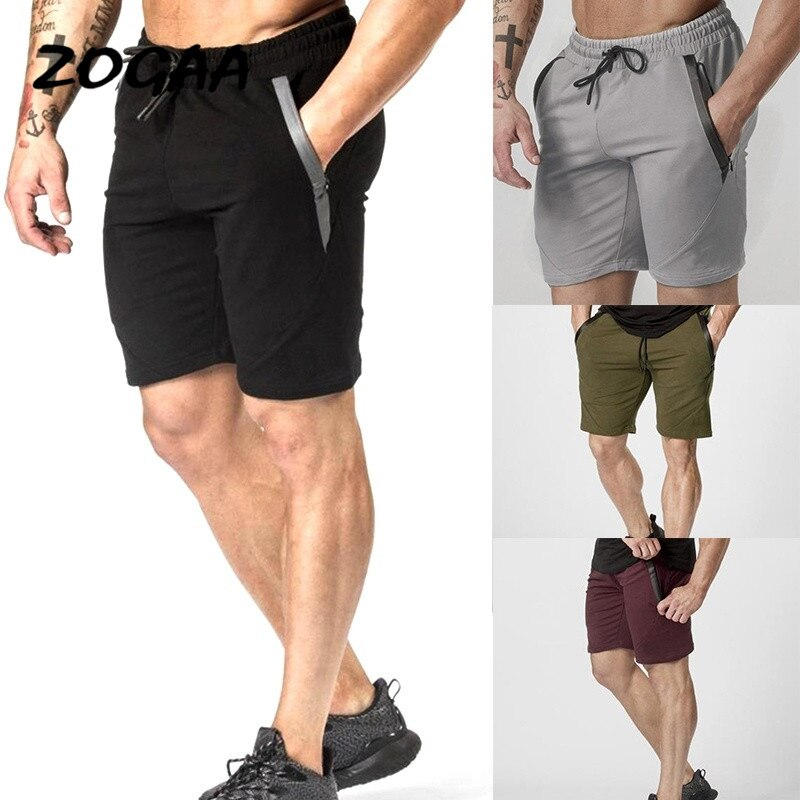 ZOGAA Mens Summer Casual Shorts Brand New Board 2020 Comfortable Solid Breathable Elastic Waist