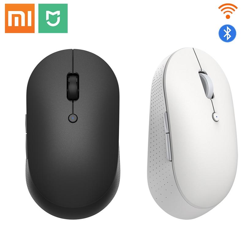 Orignial Xiaomi Mi Wireless Dual-Mode Mouse Silent Ergonomic Bluetooth USB Side buttons Protable Min