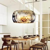 modern crystal led pendant lights hot bending glass stone pendant lamps home decoration for living room bedroom bar coffee shop
