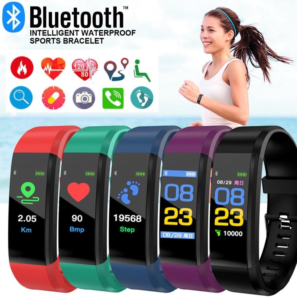 AliExpress - Mens' Watches Color Screen Smart Bracelet Men Women Sports Watch Fitness Tracker Heart Rate Pedometer Smart Band For Male Clock