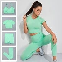 2021 seamless women yoga set workout sportswear gym clothing fitness outfit high waist leggings sports suit running pants