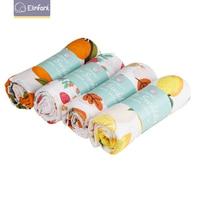 Elinfant популярный Радужный комплект из 4 шт. детское одеяло из 100% хлопка однотонное муслиновое Пеленальное Одеяло