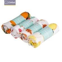 Elinfant popular rainbow 4pcs set baby warp 100% cotton solid color muslin swaddle blanket