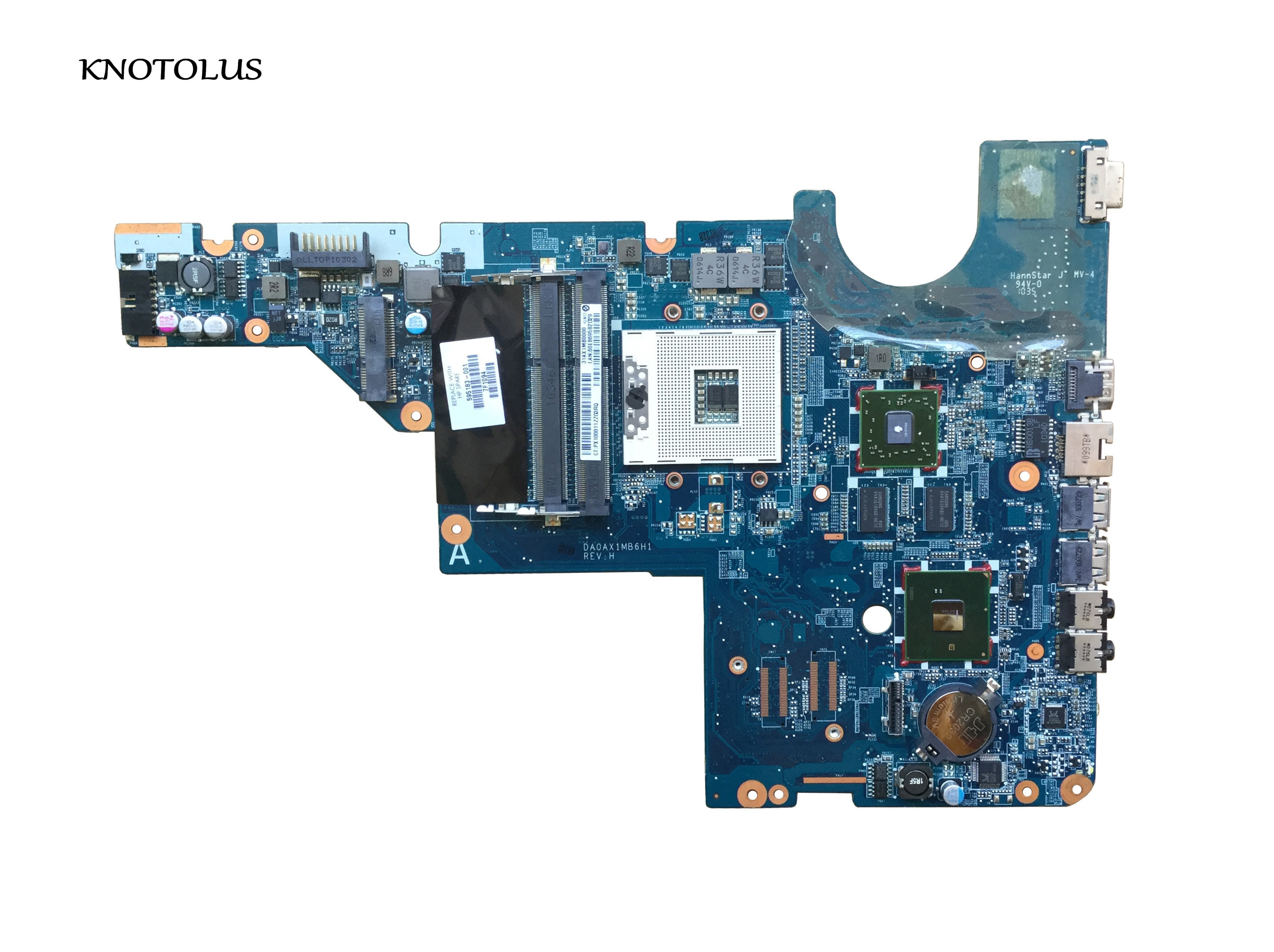 Placa base para ordenador portátil 595183-001 para HP CQ42 G42 G62 CQ62, DAOAX1MB6F0 DA0AX1MB6H0 DA0AX1MB6H1 DA0AX1MB6F1 100% probado
