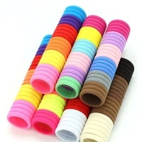 50100 pcsbag children cute candy cartoon solid elastic hair bands girls lovely srunchies rubber bands kid hair accessories