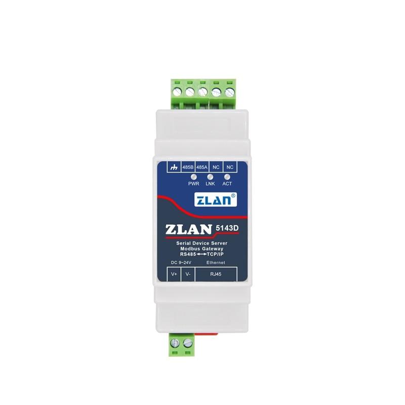 ZLAN5143D din-рейка серийный RS485 к Ethernet TCP IP Серверный модуль Ethernet конвертер Modbus RTU к модулю Modbus TCP