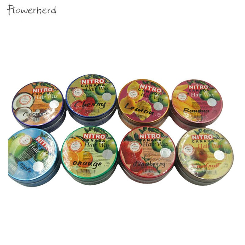 8 Flavor Fruit Hair Wax Bathroom Supplies Hair Styling Products Nitro Canada Nitro Fruit Fragrance Style Pomade Hair Gel 150g