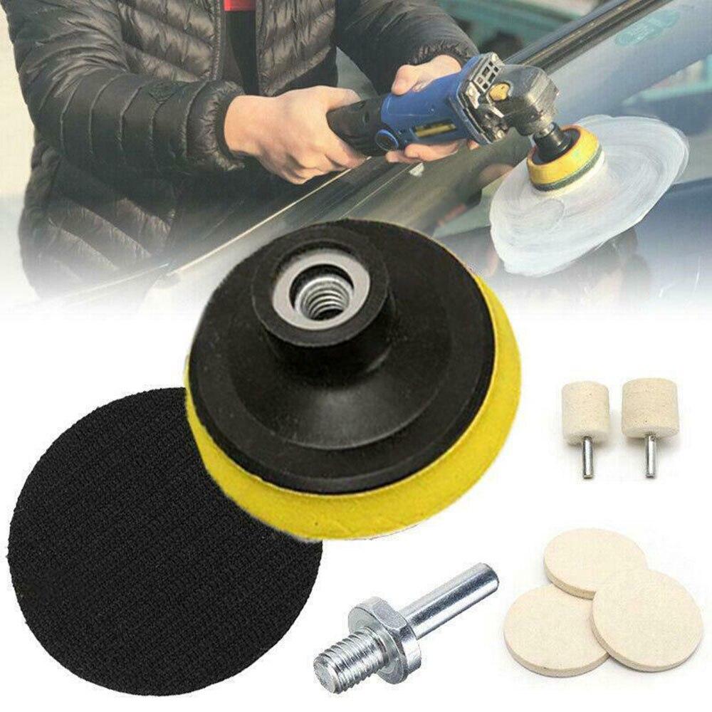 75mm almofada de polimento kit removedor enceramento almofada 75*6mm carro kit de polimento de vidro pára-brisas