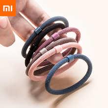 Xiaomi Jordan&Judy 12PCS/Set Girls Candy Colors Nylon Elastic Hair Bands Children Rubber Band Headband Scrunchie Fashion Hair Ac