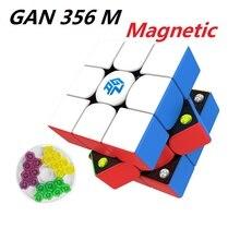 GAN356 M magnetyczna magiczna kostka prędkości bez naklejki GAN356M magnesy profesjonalne GAN 356 M Puzzle GANS WCA Cubo Magico