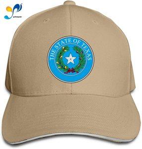 Seal of Texas Sandwich Cap Man Womens Peak Cap Free Regulating