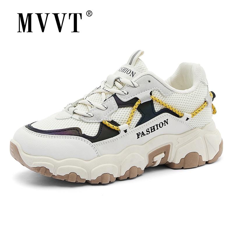 MVVT Women Running Shoes Platform Sports Shoes For Women Sneakers zapatillas de deporte Height-increasing  Walking Shoes